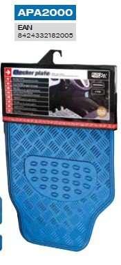 juego de alfombras azul