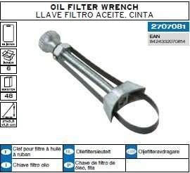 llave filtro aceite cinta